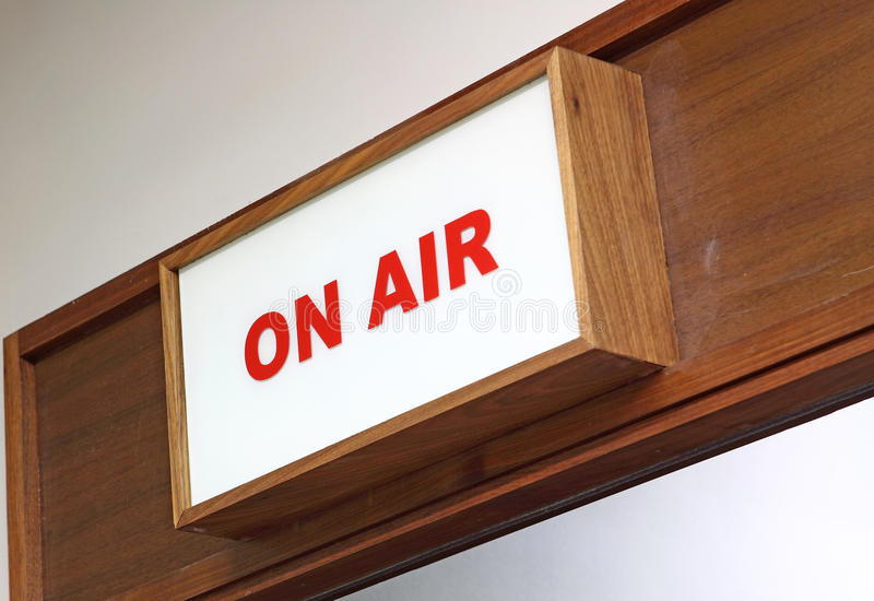 Download 'On Air' sign stock image. Image of over, sign, stage - 22516635