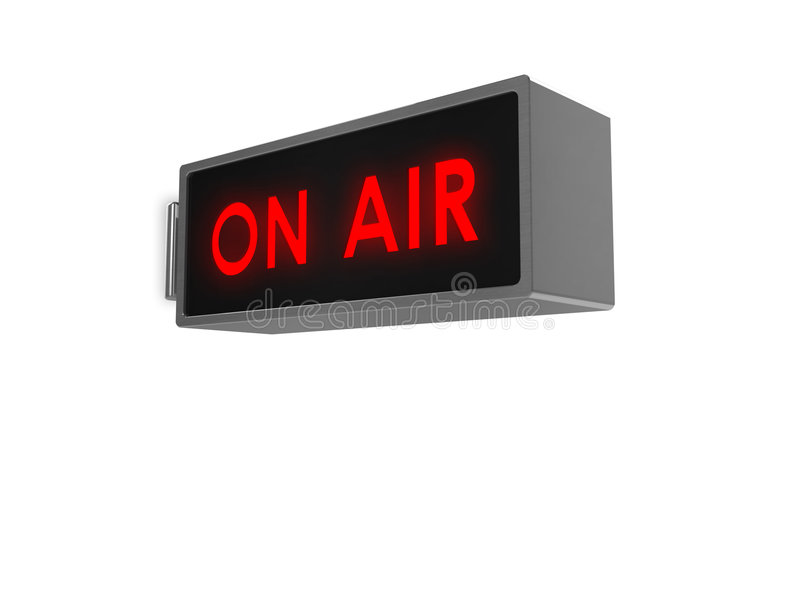 On Air sign royalty free stock photo