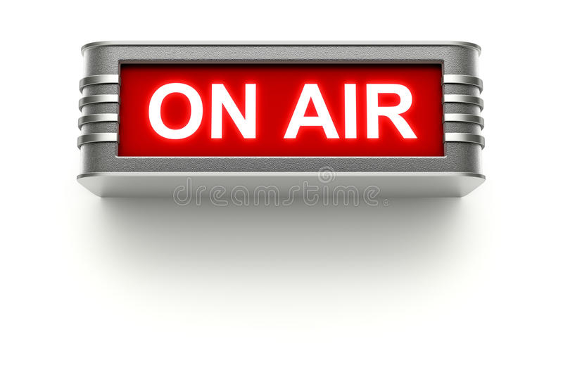 ON AIR sign royalty free illustration