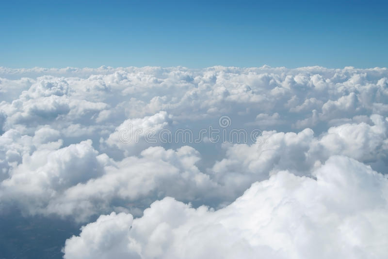 Air space 1. A white cloud with blue sky royalty free stock images