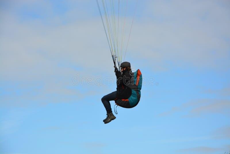 Air Sports, Parachuting, Sky, Windsports royalty free stock photo