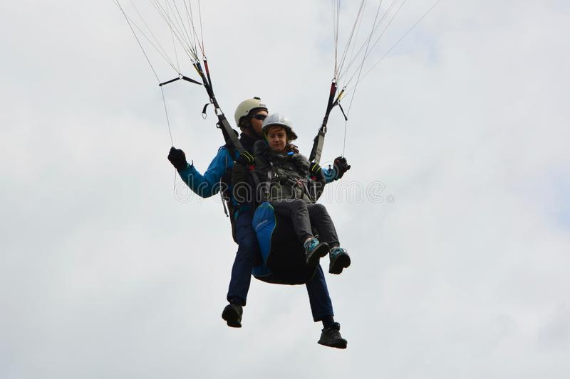 Air Sports, Paragliding, Parachuting, Extreme Sport stock images