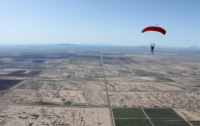 Air Sports, Paragliding, Parachuting, Parachute stock photo
