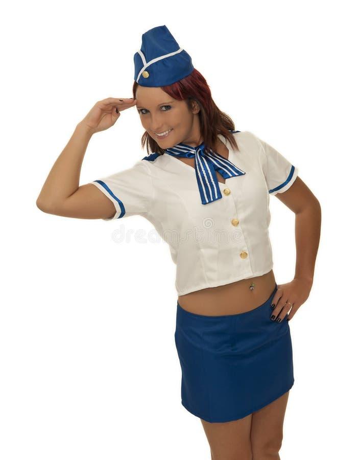 Air Steward Woman Stock Photography