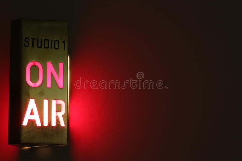 On Air Studio Sign stock photography