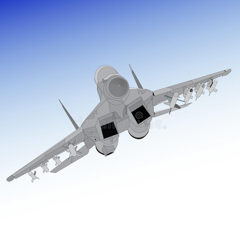 Air superiority fighter royalty free illustration