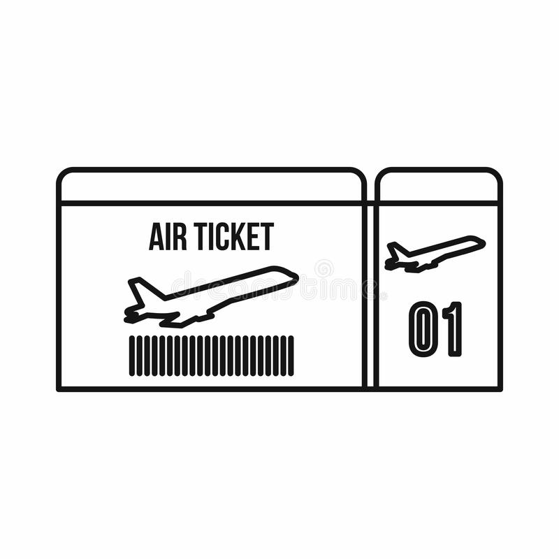 Download Air Ticket Icon Outline Style Stock Vector