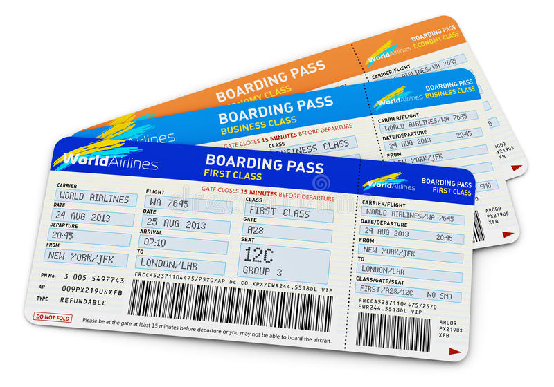 Download Air tickets stock illustration. Image of liner, check - 31674596