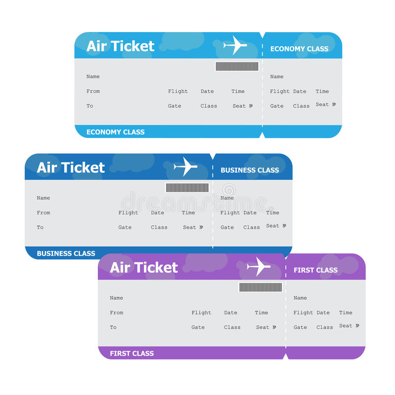 Air tickets isolated on white background royalty free stock photos