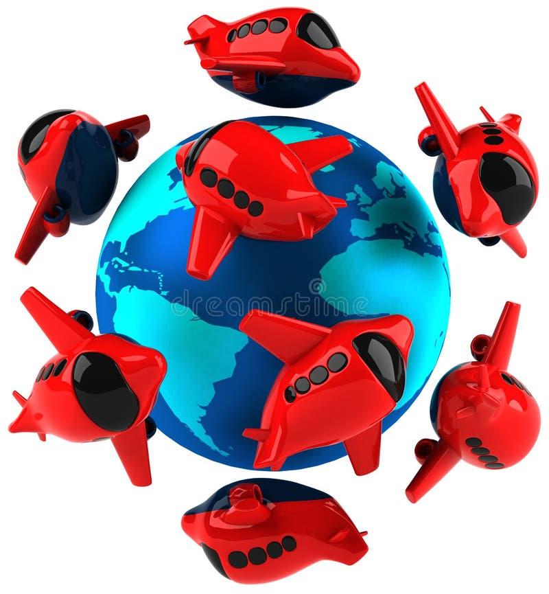 Download Air traffic stock illustration. Image of world, illustration - 14861621