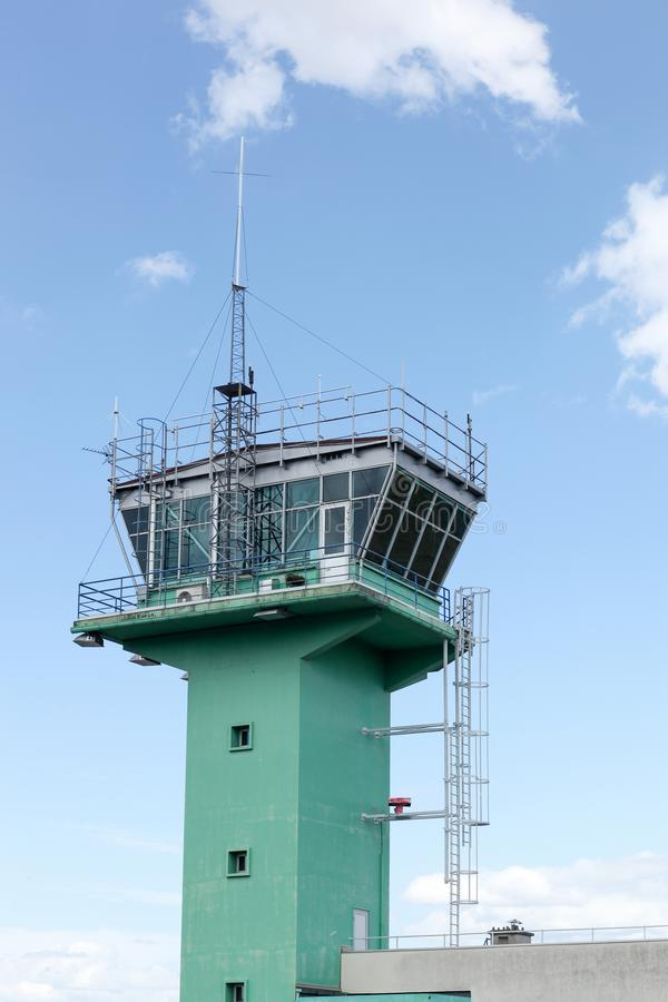 Air traffic control in Lyon-Bron airport. France stock images