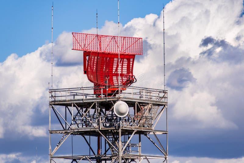 Air traffic control radar in south San Francisco bay, Sunnyvale, California stock photography