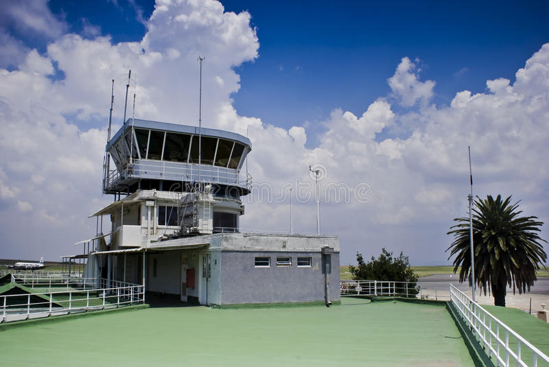 Air Traffic Control Tower. Rand airport, Gauteng, South Africa. Typical , where day to day operations of airstrips & airports are conducted. Inclusive of the royalty free stock images