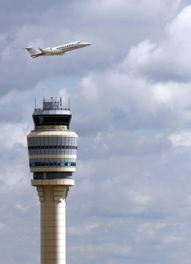 airport contol tower, Atlanta Hartsfield stock image