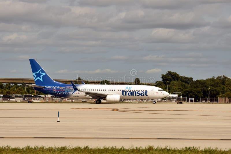 Air Transat passenger jet royalty free stock photo