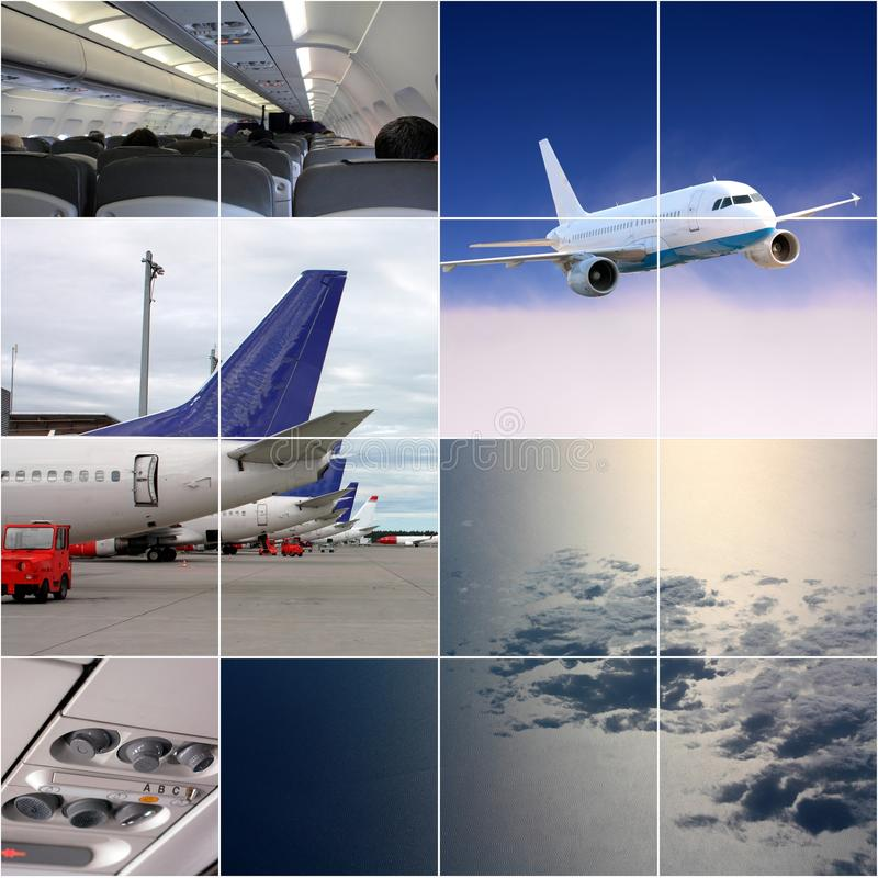 Air transport collage royalty free stock photos