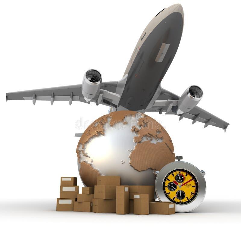 Air transportation stock illustration