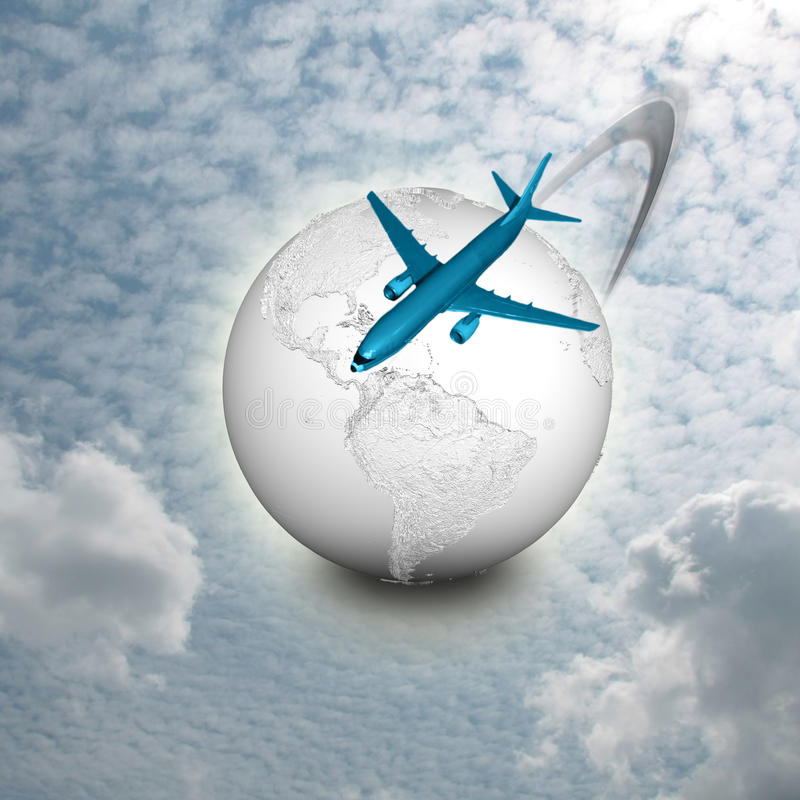 Air Travel royalty free illustration