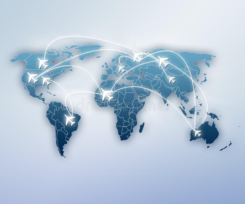 Travel around the globe vector illustration
