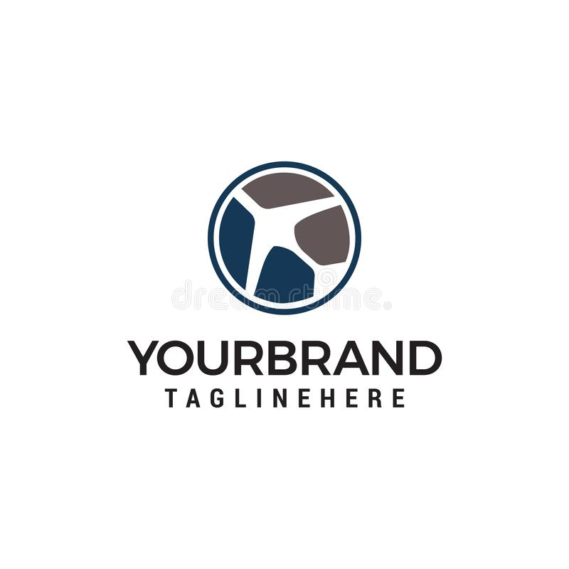 Air travel logo, simple Planes logo designs template royalty free illustration