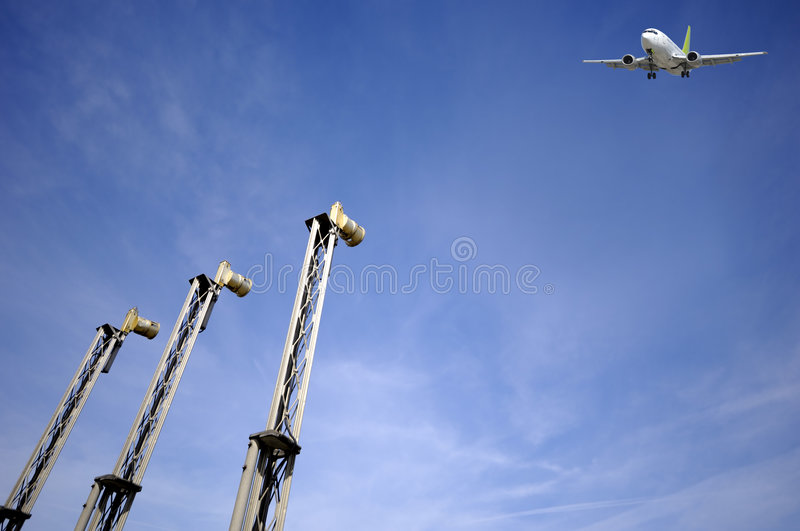 Download Air Travel - Plane Near Airport Stock Photo - Image of airport, landing: 5048422