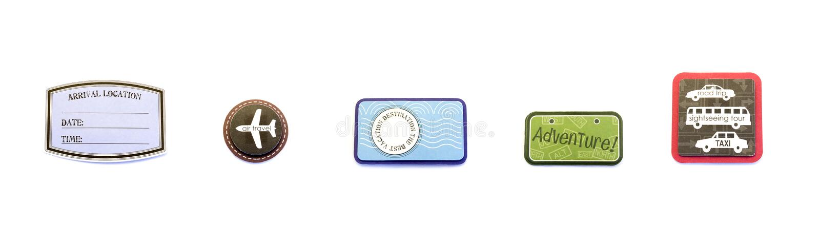 Air/Travel/Vacation Badges stock image