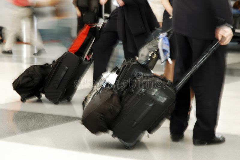 Air Travelers stock image