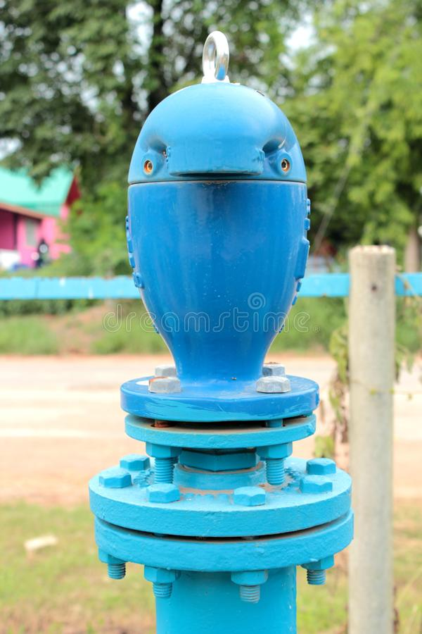 Air valve for water supply piping royalty free stock photos