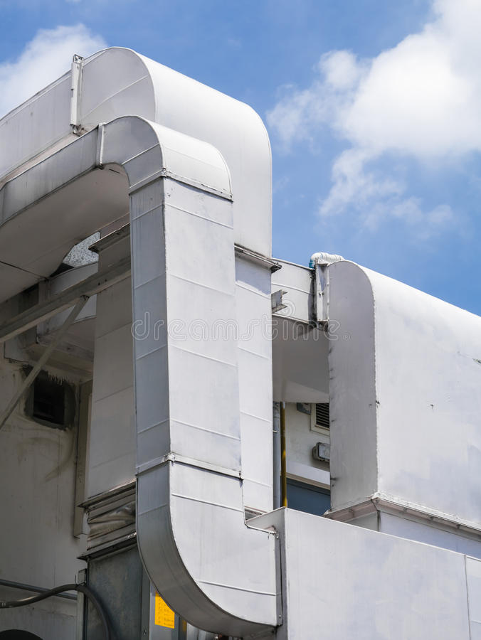 Building Ventilation System : Air ventilation duct royalty free stock photography