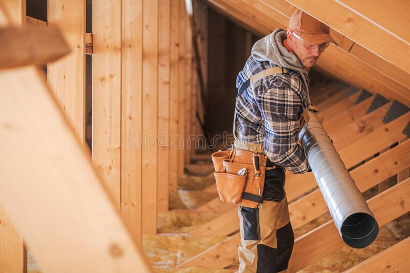 Air Ventilation Installation stock photo