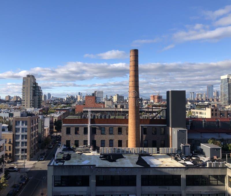 Air View dei tetti di Williamsburg, Brooklyn, New York fotografia stock libera da diritti