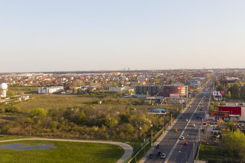 Air view of Otopeni city royalty free stock images