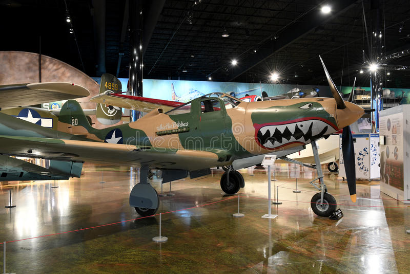 Air Zoo, Kalamazoo, Michigan. Kalamazoo, MI, USA – June 23, 2016: Bell P-39Q on display at the Air Zoo Museum in Kalamazoo, Michigan stock image