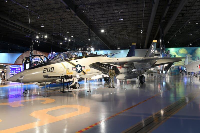 Air Zoo, Kalamazoo, Michigan. Kalamazoo, MI, USA – June 23, 2016: Grumman F-14A on display at the Air Zoo Museum in Kalamazoo, Michigan stock photography