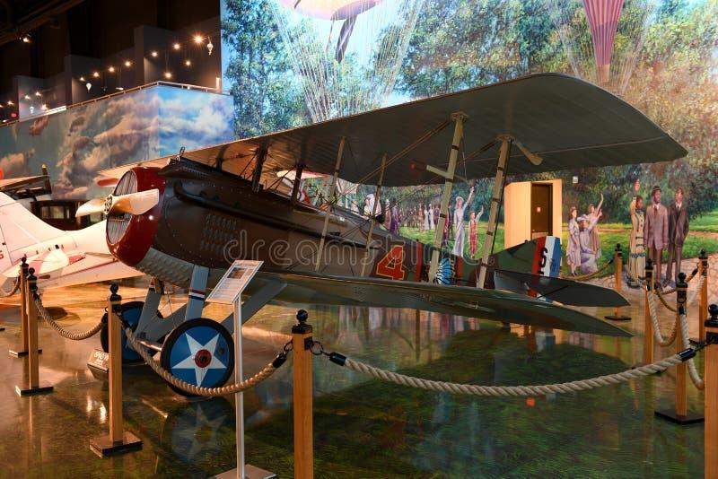 Air Zoo, Kalamazoo, Michigan. Kalamazoo, MI, USA – June 23, 2016: S.P.A.D. WWI Fighter on display at the Air Zoo Museum in Kalamazoo, Michigan stock images