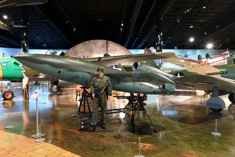 Air Zoo, Kalamazoo, Michigan. Kalamazoo, MI, USA – June 23, 2016: V-1 Flying Bomb on display at the Air Zoo Museum in Kalamazoo, Michigan royalty free stock photo