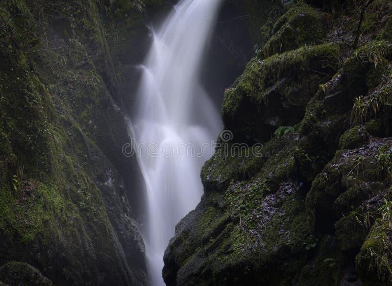 Aira力量瀑布,湖区,英国 库存照片