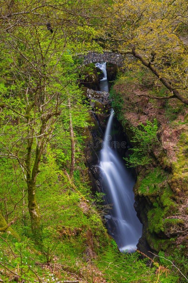 Aira Force Waterfall, Cumbria, England, United Kingdom. Aira Force Waterfall, Lake District, Cumbria, England United Kingdom stock images