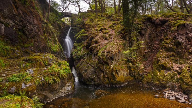 Aira Force Waterfall, Cumbria, England, United Kingdom. Aira Force Waterfall, Lake District, Cumbria, England United Kingdom royalty free stock photo
