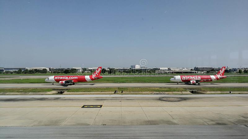 Airasia airline ready to take off stock photography