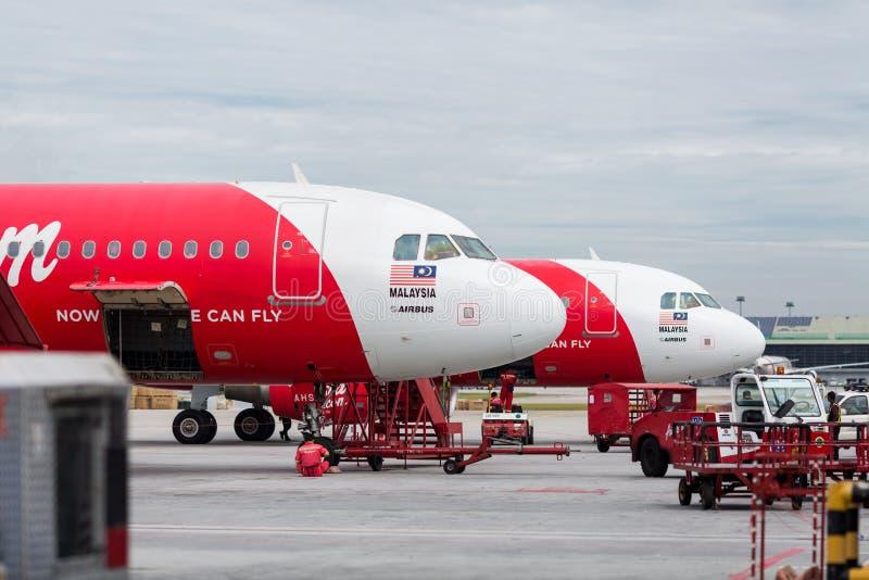 AirAsia linia lotnicza obraz stock