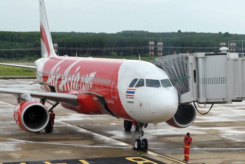 AirAsia-Vliegtuig royalty-vrije stock afbeelding