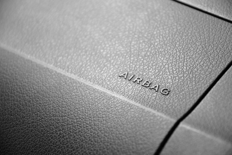 Airbag in car royalty free stock images