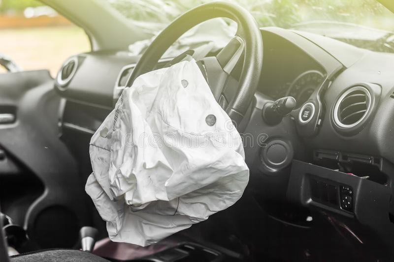 Airbag work royalty free stock photography