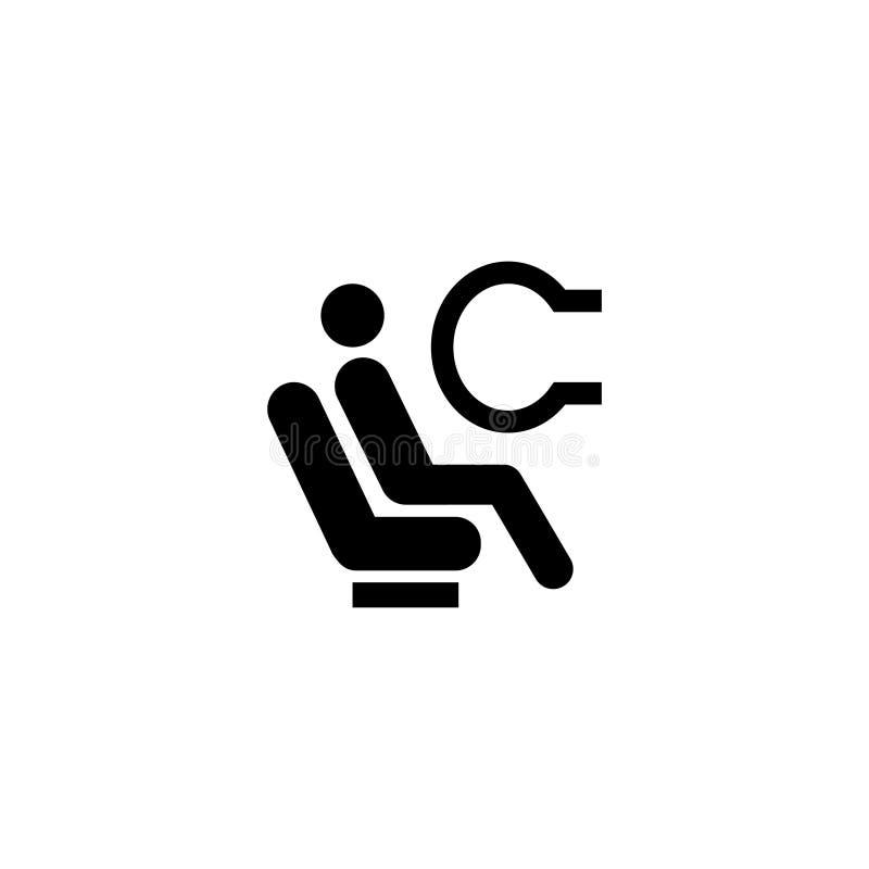 Airbag płaska wektorowa ikona ilustracja wektor