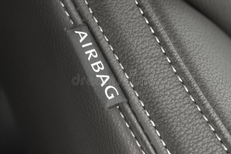 Airbag textile tag royalty free stock photos