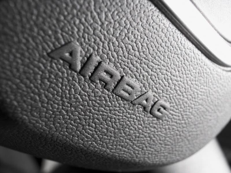 Airbag znak fotografia stock