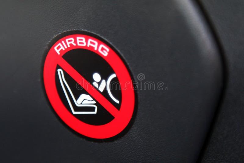 Airbagklistermärke arkivfoton