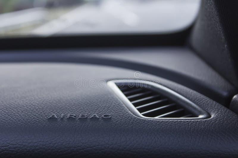 Airbagtechnologie rettet das Leben während des Verkehrsunfalls lizenzfreies stockfoto