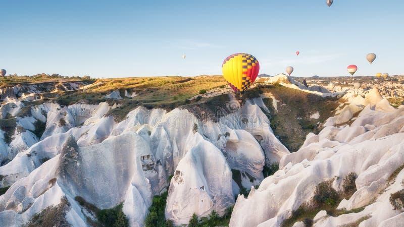 Airballoon in Turkije, Cappadocia Reis en Vrije tijd Avontuur in de lucht Concept en idee van avontuur stock fotografie